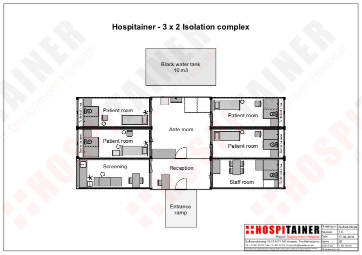 Isolation Centre In Stock Tented Containerized Solutions Hospitainer